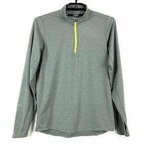 Nike Dri Fit Element 1/2 Zip running Top Gray Sm